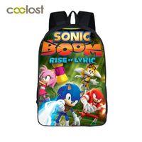 Wholesale Bags For Teen Girls - Sonic Boom Children School Bags for Girls Boys Book Bag Anime Teen Backpack zainetto donna Baby Backpacks 3D Kids Bag schooltas