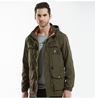 Wholesale Tactical Jacket Hoodie - Fashion Army Clothes Casual Tactical Jackets Men Hoodie Coats Mens Thin Hooded Long Jacket Hooded Jacket Large Size