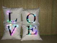blaue led-leuchten zum verkauf großhandel-LED Farbige Lichter Hause Liebe Kissenbezug Flanell Weiche Heimtextilien Dekorative Artikel Kreative Mode Heißer Verkauf 10ht J R
