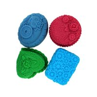 Wholesale Heart Flower Soap Molds - 4 cell heart rose flower silicone mold soap,fondant candle resin molds,sugar craft tools, chocolate moulds ,form for soap