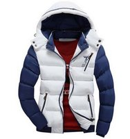 Wholesale Handsome Man Coat - New Arrival Men Jacket Warm Cotton Coat Mens Casual Hooded Jackets Handsome Outwear Thicking Parka Plus Size XXXL Coats