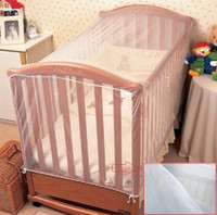 Wholesale Crib Mosquito Canopy - Baby Mosquito Cot Insect Wasps Flies Net Baby Toddler Bed Crib Canopy Netting about 136mm x 68mm x 68mm