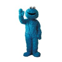 Wholesale Mascot Costumes Sale - Hot Sale Sesame Street Cookie Monster Mascot Costume Fancy Party Dress Suit Free Shipping