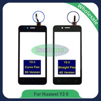 Wholesale Huawei 4g 3g - For Huawei Y3 II Y3II LUA-L03 L21 Touch Screen Glass Lens Panel Digitizer New Hot Replacement Parts Black White 3G 4G Free Shipping