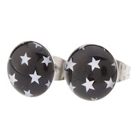 Wholesale Supper Deals - Supper Deal!!! Hot Sell Free Shipping 18 pairs 10mm Fashion Stars Symbol Stainless Steel Stud Earrings, Fashion Earring