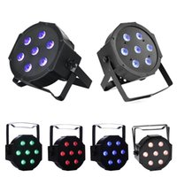 DJ Lighting LED 7x10 Watt DMX512 RGBW Disco LED Light - Télécommande - Up-Lighting - Éclairage de scène lumières du club en mouvement