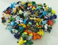 Wholesale Pokemon Charizard Figure - 144 PCS Lot Poke Mon Figures Toys 2-3cm Pikachu Charizard Eevee Bulbasaur Suicune PVC Mini Figure Toys Best Gifts
