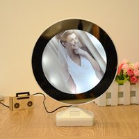 Wholesale Wholesale Photo Magic - Creative Magic 7 Inch Multi function LED Light Photo Frame With Mirror Wedding Picture Frame Art Home Decor S2017395