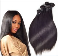 """Wholesale Mixed Lenght Brazilian Virgin - Wholesale 7A mix lenght 12-28"""" Unprocessed Hair brazilian Virgin Human Hair Extension 100g pcs 3PC LOT straight Double Weft dhl FastShipping"""