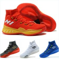 Wholesale Pink Lin - 2018 Newest Crazy Explosive PK Low Cut Mens Basketball Shoes John Wall Andrew Wiggins Jeremy Lin Real Boost Authentic Quality Sneakers