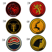 zauberstab verkauf großhandel-VP-231 Heißer Verkauf Game of Thrones für gestickte taktische Patches mit Zauberstab Armband Patches Army Patch Jacke / Cap Moral Patch