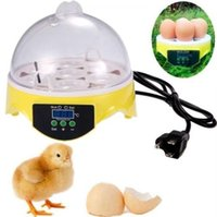 Wholesale Eggs Control - Freeshipping 7 Mini Egg Incubator Poultry Bird Pet Hatcher Digital Clear Temperature Control