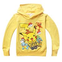 çocuklar için karakter hoodies toptan satış-Toptan-Kız Erkek Karikatür Tişörtü Çocuklar Çocuklar için Hoodies Çocuk Karakter Baskı Pamuk Uzun Kollu Tişörtü T-Shirt