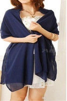 Wholesale navy blue white scarf resale online - High Quality Navy Blue Wedding Wraps Cape Scarf Bridal Prom Party Jacket Chiffon Bridal Wrap Wedding Events Bridal Wedding Accessories