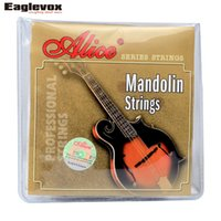 Wholesale Alice Strings - Wholesale- Mandolin Strings 0.011 0.040 inch Plated Steel 85 15 Bronze wound Alice AM05