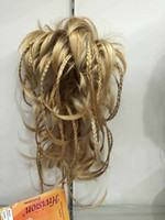 Wholesale curly braiding hair for sale - beautiful charming hot New fashion cute bendable wire braid blonde clamp short ponytail hair pieces