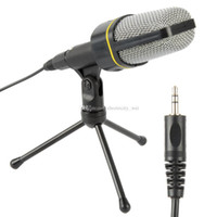 Wholesale Skype Phone Computer - Professional Podcast Studio Microphone w Stand Skype Webcast Youtube Video 3.5mm jack The Stand Free shipping