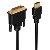 Atacado / Frete Grátis 300pcs / lot 2m 6ft HDMI to DVI Cable, Premium Quality / 1080p (Full HD) / 24 + 1 Pinos / 24k Gold Plated