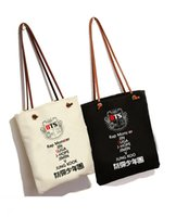 Wholesale kpop bags - Wholesale- New Kpop Bts bangtan boys jimin suga canvas bag Fashion Schoolbag Shoulder bag Sling Bag