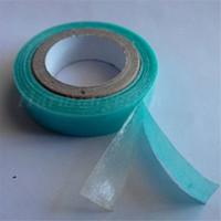 3 m nakliye bandı toptan satış-ÜCRETSIZ NAKLIYE 5 Rolls 1 cm * 3 m Mavi Renk Süper Kalite Saç Uzatma Bant Çift Taraflı Yapışkan Bant için PU Cilt Atkı Bandı Saç