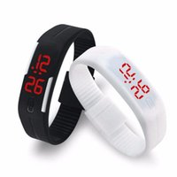 Wholesale Silicon Kids Wrist Watches - LED Digital Wrist Watch Sports Waterproof Gym Running Touch Screen Kids Wristbands Rubber belt Silicon Bracelets