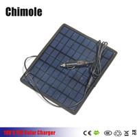 carregador solar portátil para carros venda por atacado-5 W 18 V / 5 V Portátil Painel Solar Multi-Purpose Para 12 V Carregador de Bateria Carregador de Painel Solar Da Bateria Com Carregador de Carro