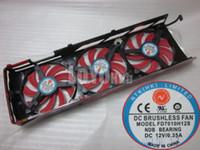 reemplazo del cojinete del ventilador al por mayor-Envío Gratis Nuevo Para ATI HD7990 Tarjeta de Video Reemplazo Triple Ventilador NTK FD7010H12S DC12V 0.35A NDB BEARING
