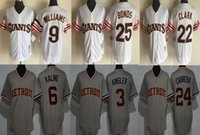 San Francisco Giants Detriot Tigres Williams Bonos Clark Kaline Kinsler Cabrera Jerseys Hockey Béisbol Fútbol Baloncesto Colegio Camisetas