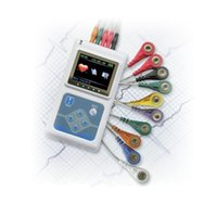 Wholesale Monitor Cable Ecg - ECG Holter 3-Channel 24 Hour Handhold Heart Monitoring Recorder System Holter Monitor TLC9803 Portable Cable ECG EKG