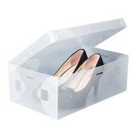 Wholesale Transparent Foldable Shoe Box Wholesale - Wholesale-Stackable Foldable Clear Plastic Shoe Storage Box Transparent ShoeBox Holder