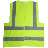 colete de segurança v reflexivo venda por atacado-Alta visibilidade de segurança de trabalho colete de construção de aviso reflexivo tráfego trabalhando colete verde roupa de segurança reflexiva livre dhl
