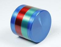 ingrosso base di zinco-Top quality colorato 52 * 43mm 4 parti in lega di zinco herb grinder per il fumo di tabacco smerigliatrice a base di erbe smerigliatrici all'ingrosso