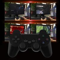 controladores de nivel al por mayor-2x 2.4G USB Wireless Vibration Gamepad Controller Joystick Con 256 niveles 3D Stick analógico para PC portátil