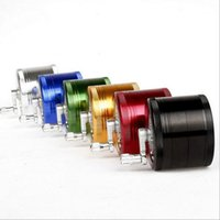 Wholesale Tall Glasses Wholesale - Herb Grinder CNC Four Layer Rocker Milling Smoke Detector Black Green Yellow Red Grinders 2.5 inch tall size Glass Pipes