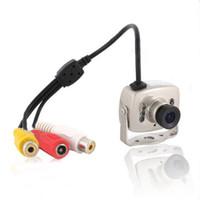 Wholesale Spy Camera Wires - Mini 6LED Wired CMOS CCTV Security Camera NTSC PAL Night Vision Hidden Pinhole Spy Camera