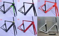 Wholesale Disc Frame Road - Super light disc carbon frame can y road bike carbon disc frameset aeroad bicycle frame BOB  red white disc frames free shipping