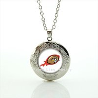 Wholesale Kids Rhinestone Pendants - 2016 Trendy locket necklaces Pendants sport rugby jewelry football sport accessory gift for children and kids NF045