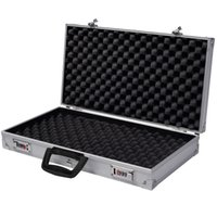 Wholesale hard storage - Aluminum New Framed Locking Gun Pistol HandGun Lock Box Hard Storage Carry Case