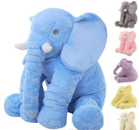 Wholesale Elephant Baby Bedding - 60cm Fashion Baby Animal Elephant Style Doll Stuffed Elephant Plush Pillow Kids Toy for Children Room Bed Decoration Toys 5Color b502