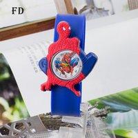 Wholesale Black Fd - FD Spiderman Children Rubber Sports Watch Casual 3D Cartoon Pattern Boys Girls Kids Wristwatch 2017 Hot Sale Quartz Clock gifts