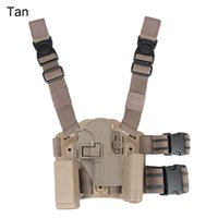 Wholesale Thigh Pistol Holsters - New Arrival Tactical USP Holster Pistol Thigh Holster of Polymer Leg Holster with Platform Free Shipping CL7-0001