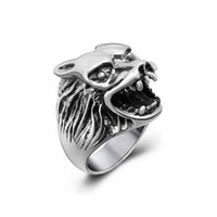 Wholesale stainless steel wolf rings for sale - Group buy Men s and women vintage wolf stainless steel rings personality designer titanium steel metal mixed rings jewelry accessories