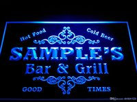 Wholesale Home Neon - DZ058-b Name Personalized Custom Family Bar & Grill Beer Home Gift Neon Sign