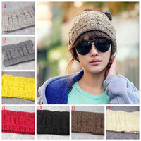 Moda Mulheres Tampas de crochê Headband Knit Hairband Inverno Ear Warmer Head Hat Vazio Top Winter Hats Presentes de Natal YYA431