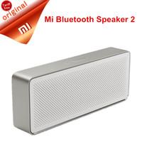 haut-parleur bluetooth box box xiaomi achat en gros de-Original Xiaomi Bluetooth Speaker Plus récent Xiaomi Pencil Box Président 2 Square Stereo Portable Haute Définition Qualité Sonore