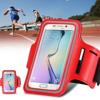 Wholesale S4 Band - Wholesale-Sport Mobile Phone Arm Band Case Bag Armband For Samsung Galaxy S7 S6 S5 S4 S3 A5 A3 For LG G2 G3 For HTC M7 M8 Running Case