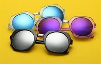 Wholesale Men Over Coats - New 10 Pcs Lot Women Over Size Sunglasses Round Colorful Reflective Coating Sun Glasses Eyegwear 11 Colors Free Shipping