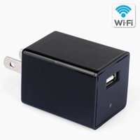 Wholesale Usb Iphone App - WIFI Spy Camera AC Plug USB Wall Charger Mini DVR DV Hidden Camera Video Recorder Support iPhone   Android APP Remote View