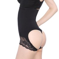 Wholesale Open Butt - Slimming Underwear Butt Lifter Hot Body Shapers Tummy and Butt shaper Women Open Bottom Bum Lift Shapers
