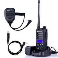 Wholesale Vhf Mic - Baofeng UV-82 upgraded version UV-82 Plus Walkie Talkie Two Way Ham Radio Transceiver Dual Band 136-174 400-520MHz +MIC+CD